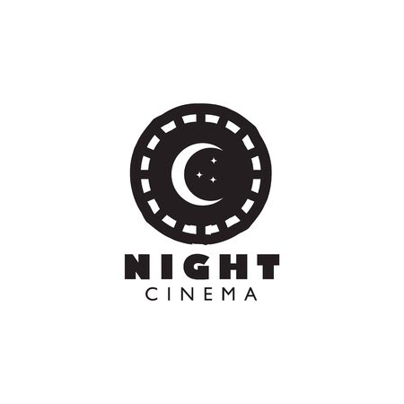 Movie maker company logo design inspiration vector template with isolated background Standard-Bild - 129604230