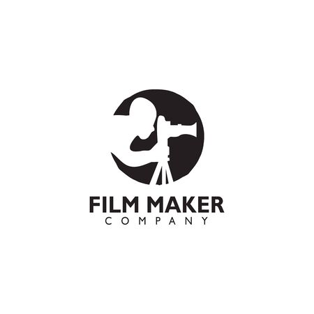 Movie maker company logo design inspiration vector template with isolated background Standard-Bild - 129604234