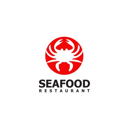 Seafood restaurant with crab icon design template Ilustracja