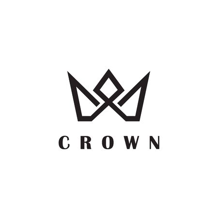 Luxury crown logo design inspiration vector template with isolated background