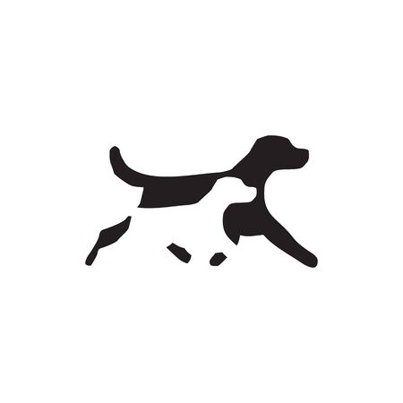 Dog icon logo design inspiration vector template illustration