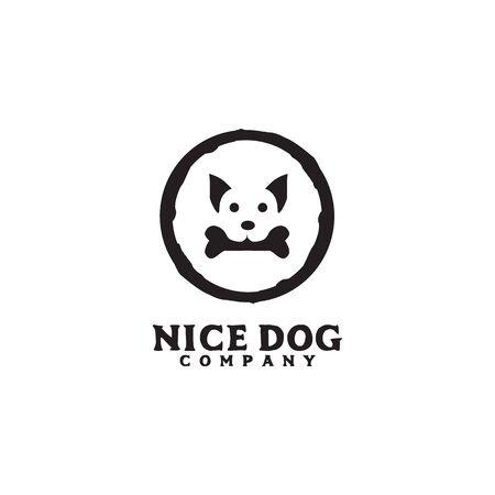 Dog icon logo design inspiration vector template illustration