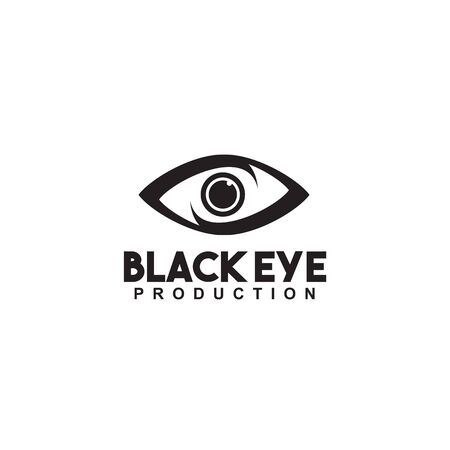 Eye logo design inspiration vector template with isolated background Stock Illustratie