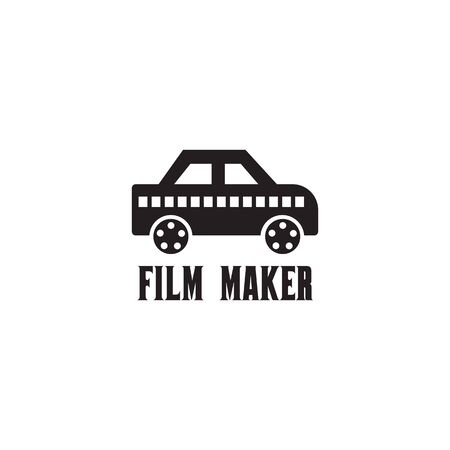 Movie maker company logo design inspiration vector template with isolated background Standard-Bild - 129604460