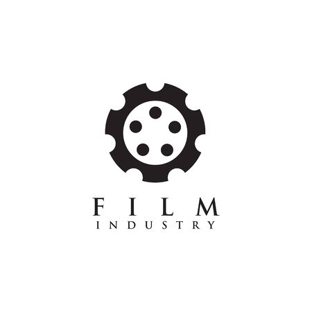 Movie maker company logo design inspiration vector template with isolated background Standard-Bild - 129604399