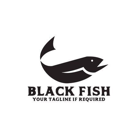 Fish logo design vector template illustration