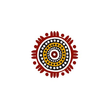 Aboriginal art dots painting icon logo design inspiration vector template Иллюстрация