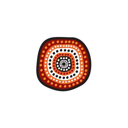 Aboriginal art dots painting icon logo design inspiration vector template