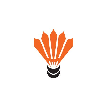 Badminton logo design with using shuttlecock icon template 写真素材 - 132596075