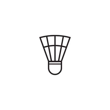 Badminton logo design with using shuttlecock icon template  イラスト・ベクター素材