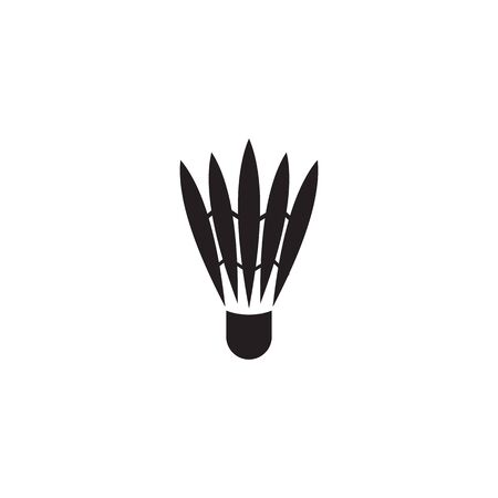 Badminton logo design with using shuttlecock icon template Illustration