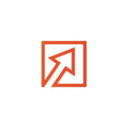 Arrow icon logo design template for business company