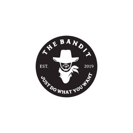 Bandit icon logo design inspiration vector illustration template
