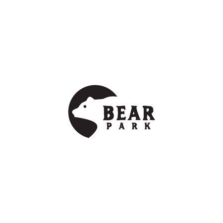 Bear icon logo design inspiration vector illustration template