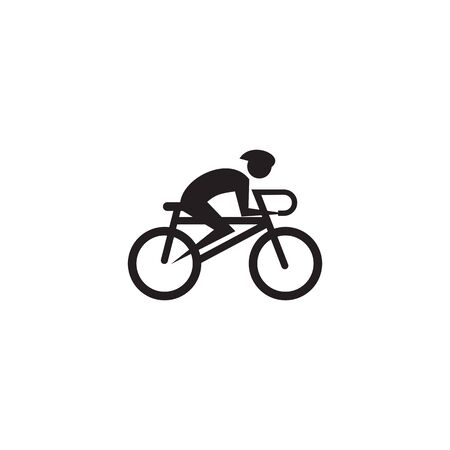 Bicycle icon logo design inspiration vector illustration template Illustration