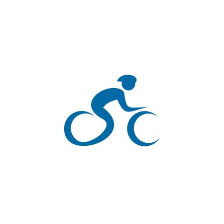 Bicycle icon logo design inspiration vector illustration template Stock Illustratie