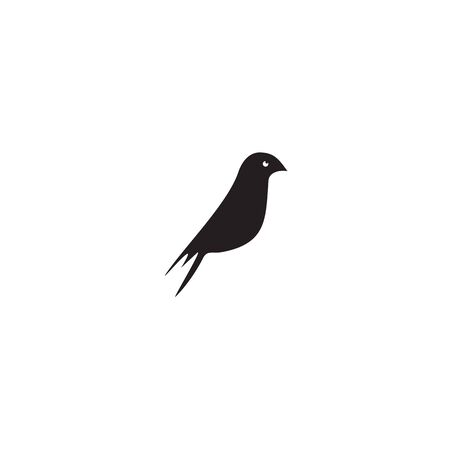 Bird icon logo design vector illustration template