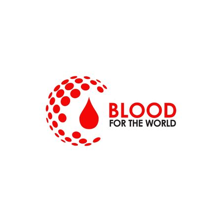 Blood icon logo design inspiration vector template