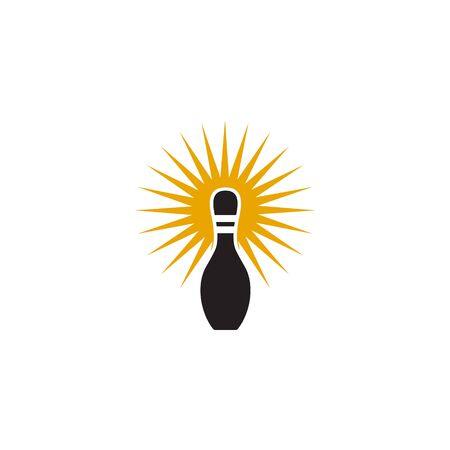 Bowling icon logo design inspiration vector template