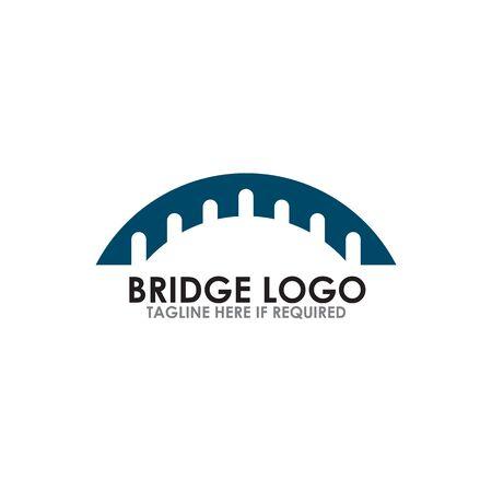 Bridge icon logo design inspiration vector template