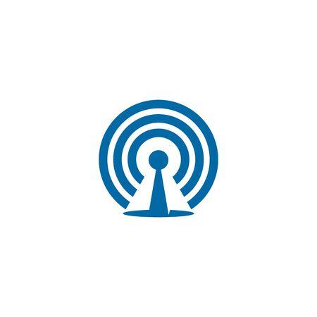 Signal wave icon logo design inspiration vector illustration template Иллюстрация