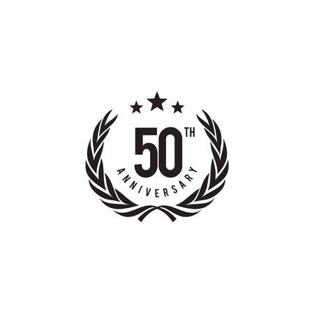 50th celebrating anniversary emblem logo design vector template