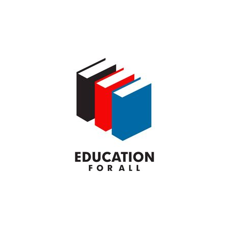 Education logo design inspiration with using book icon template