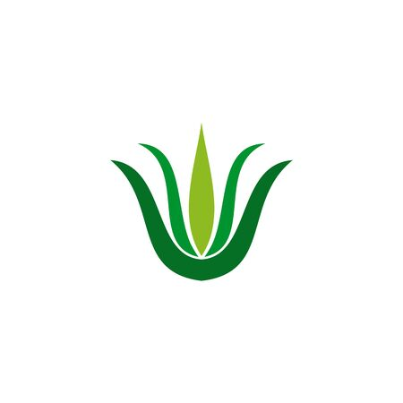 Aloe vera plant logo icon design vector template for beauty salon Banco de Imagens - 133223589
