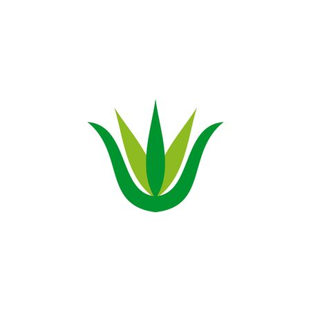 Aloe vera plant logo icon design vector template for beauty salon
