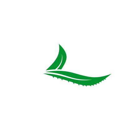 Aloe vera plant logo icon design vector template for beauty salon Banco de Imagens - 133223555