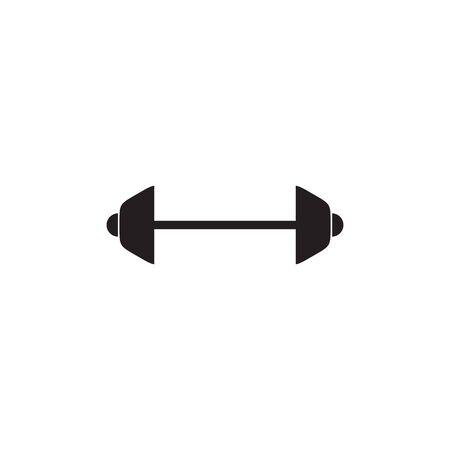 Barbell logo design vector template inspiration