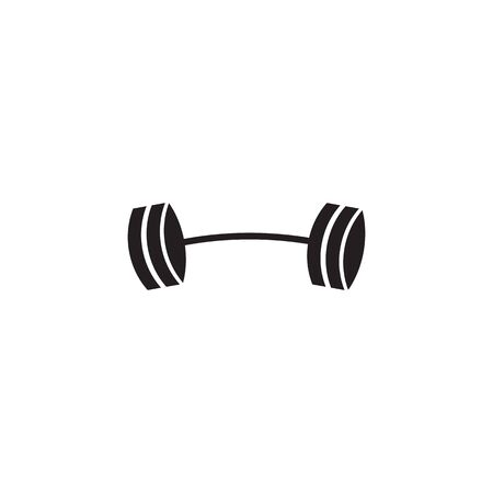 Barbell logo design vector template inspiration