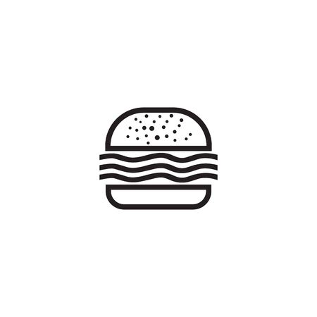 Burger icon logo design vector illustration  template Çizim