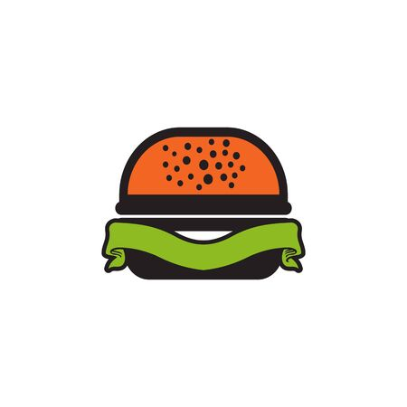 Burger icon logo design vector illustration  template Vectores