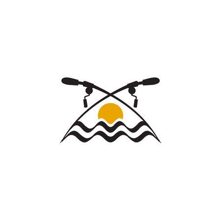 Fishing club logo design inspiration vector template