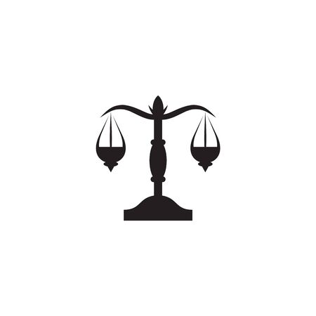 Justice law icon logo design inspiration with using scale illustration template