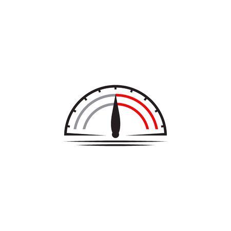 Speedometer icon logo design inspiraiton vector template Banque d'images - 133222299
