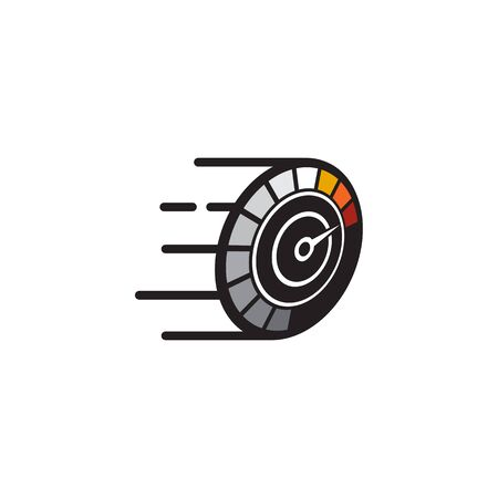 Speedometer icon logo design inspiraiton vector template Banque d'images - 133222339
