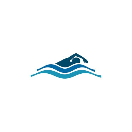 Swimmer logo design inspiraiton vector template 向量圖像