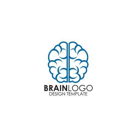 Brain logo design inspiration vector template Ilustração