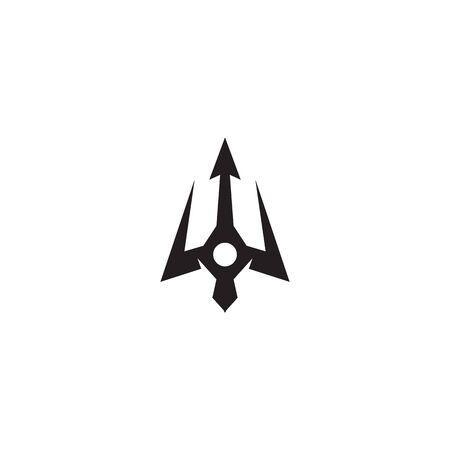Trident weapon logo design inspiration vector template