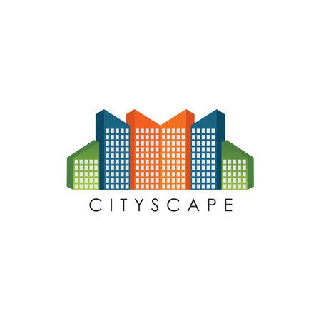 Cityscape logo design inspiration vector template  イラスト・ベクター素材