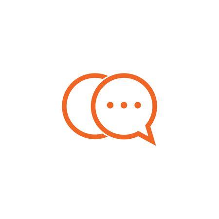Bubble chat icon logo design inspiration vector template