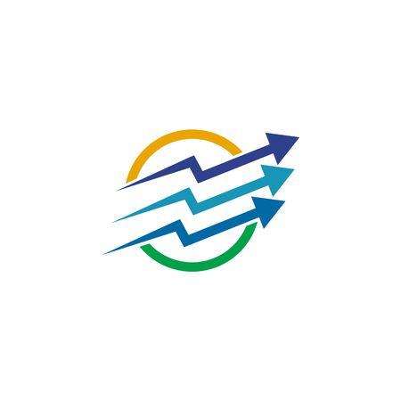 Economic business chart icon logo design vector template Ilustrace