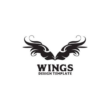 Wings logo design inspiration vector template with isolated background Çizim