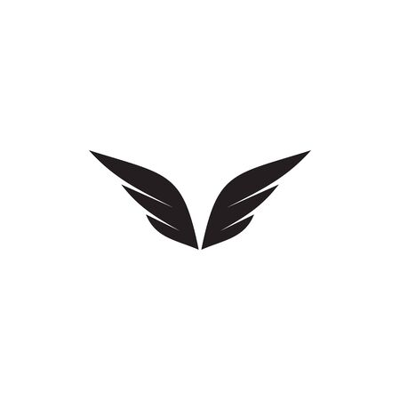 Wings logo design inspiration vector template with isolated background Stock Illustratie
