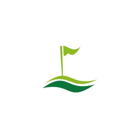 Golf logo icon design inspiration vector template Illusztráció