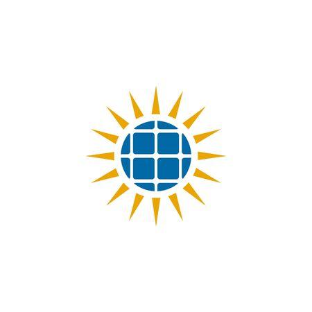 Solar energy logo design inspiraiton vector template Standard-Bild - 133494472