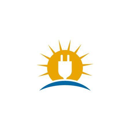 Solar energy logo design inspiraiton vector template Standard-Bild - 133494476