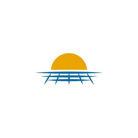 Solar energy logo design inspiraiton vector template